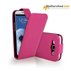 Roosad nahkkaaned  + ekraani kaitsekile Samsung Galaxy SIII (i9300)