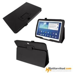 "Mustad nahkkaaned Samsung Galaxy Tab 3 (P5210, P5220) 10.1"""