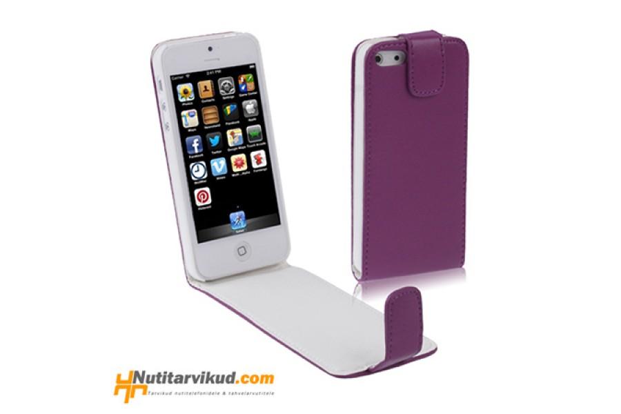 aa3472749f7 Lillad nahkkaaned + ekraani kaitsekile iPhone 5