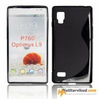 Must S-line silikoonümbris + ekraani kaitsekile LG Optimus L9 P760