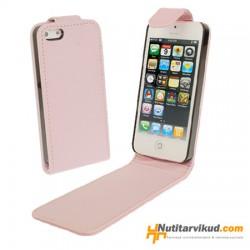 Roosad nahkkaaned  + ekraani kaitsekile iPhone 5