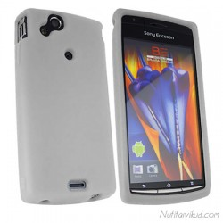 Valge silikoonümbris+kaitsekile Sony Ericsson Xperia Arc, ArcS