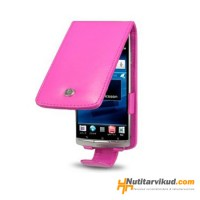 Roosad nahkkaaned + kaitsekile Sony Ericsson Xperia Arc, Arc S