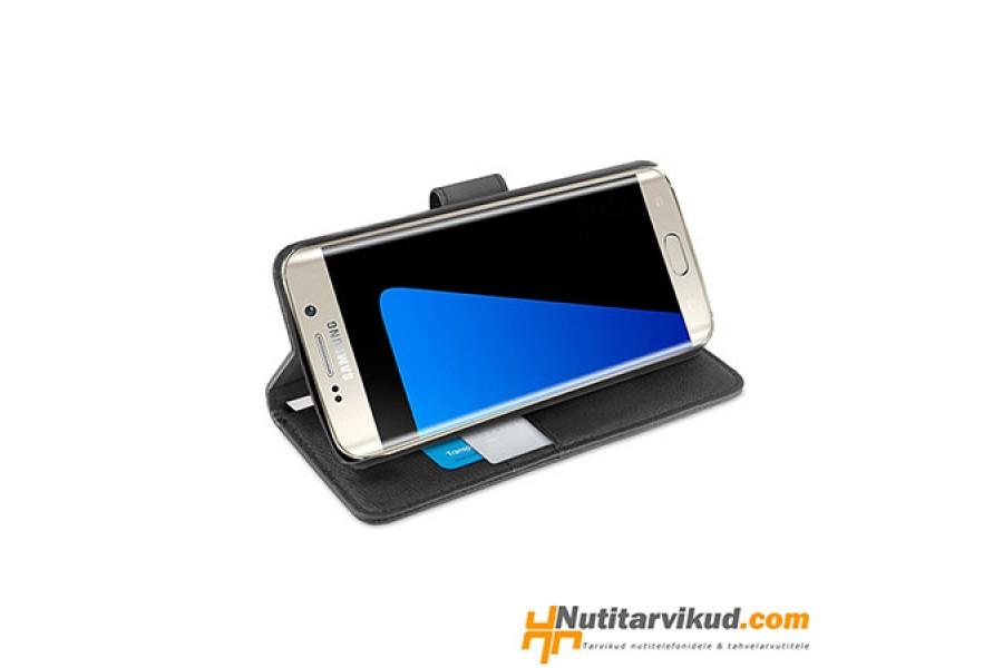 963e81caee3 Mustad nahkkaaned + ekraani kaitsekile Samsung Galaxy S7 Edge
