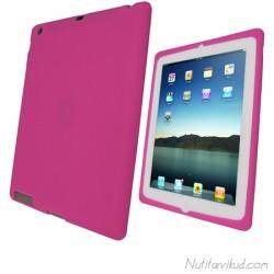 Roosa silikoonümbris + ekraani kaitsekile iPad 2, 3