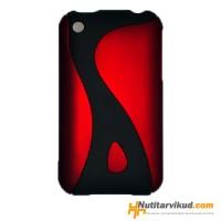 Punane plastikümbris iPhone 3G, 3GS + ekraani kaitsekile