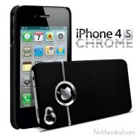 Libisemisvastase kattega must plastümbris + ekraani kaitsekile iPhone 4, 4S