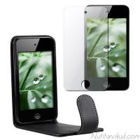 Mustad nahkkaaned + kaitsekile iPod Touch 4G